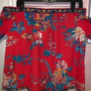Flying Tomato Tops - Off shoulder tropical top